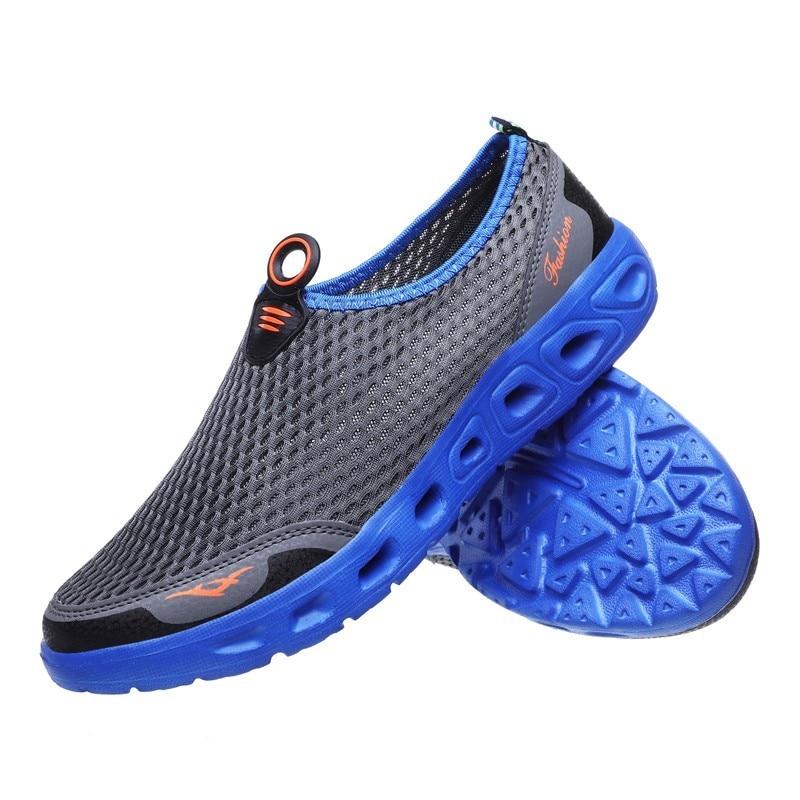 Do Aqua Sapatos Para Mulheres Dos Homens Ao Ar Livre Da Água Da Praia de verão Sapato Respirável sapatos de Pesca Vadear Sapatos Montante Não-deslizamento Plus Size sneakers