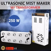 10 Head Ultrasonic Mist Maker Fogger Humidifier w/ Transformer Nebulizer Smoothly Waterscape Pool Manufacturing Fog