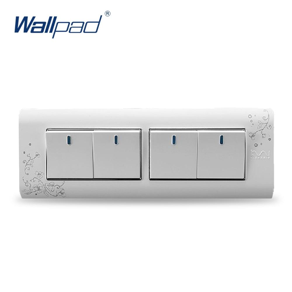 4 Gang 2 Way Wallpad Luxury Wall Switch Panel Light Switch C30-118 110~250V жидкость gang vape escobar 30 мл 0 мг