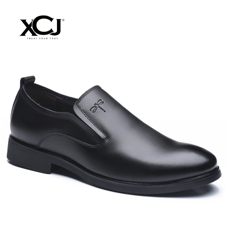 Genuine Leather Men Dress Shoes Brand Men Formal Shoes Men Shoes Plus Big Size 46 47 Classic Business Gentleman Slip On XCJ цена