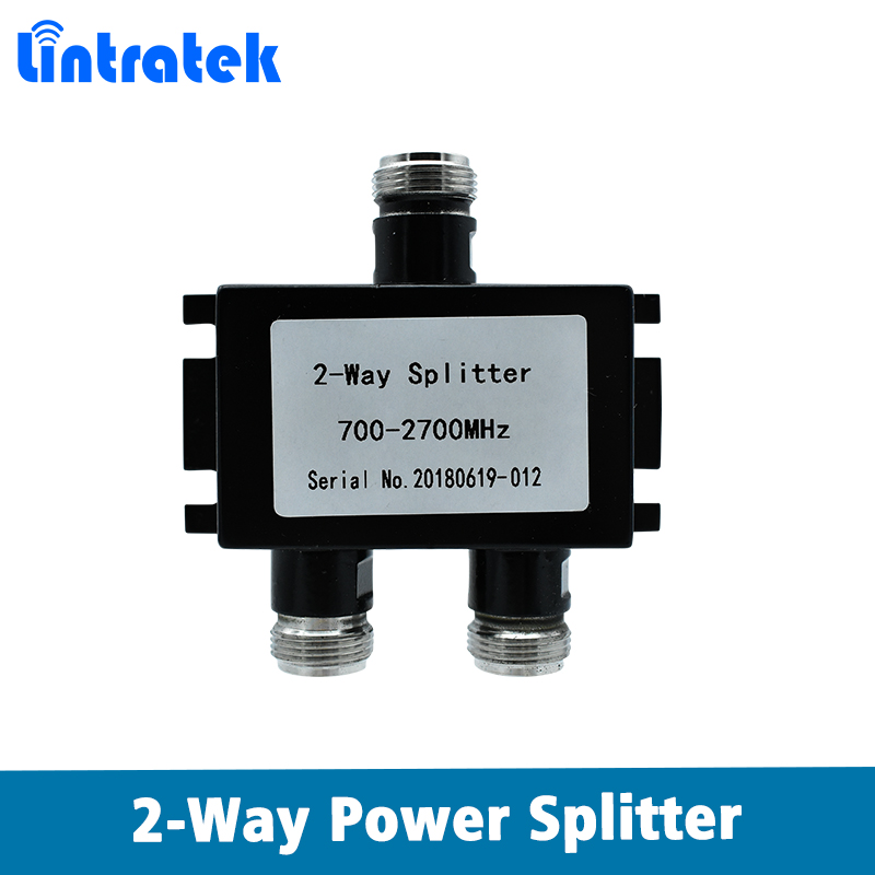 700MHz~2700MHz N-Female 2-way Power Splitter Signal Repeater 2 Way Splitter For Connect Mobile Signal Booster And Antenna Cable