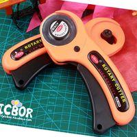 Бесплатная доставка тип безопасности фреза круговой нож ролик круглый нож/разрезая ткань нож/кожа ткань режущего инструмента 45 мм