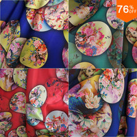 3 yards Top Fashion Oil Painting Style Print casual dress Best Quality fabric autumn summer new fabrics clothes Cover Luixurious