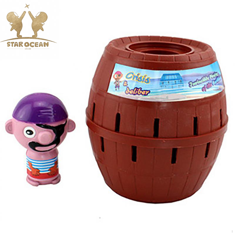 Party Funny Game Kids Funny Gadget Pirate Barrel Game Toys for Children Lucky Stab Pop Up Toy Super Big Type