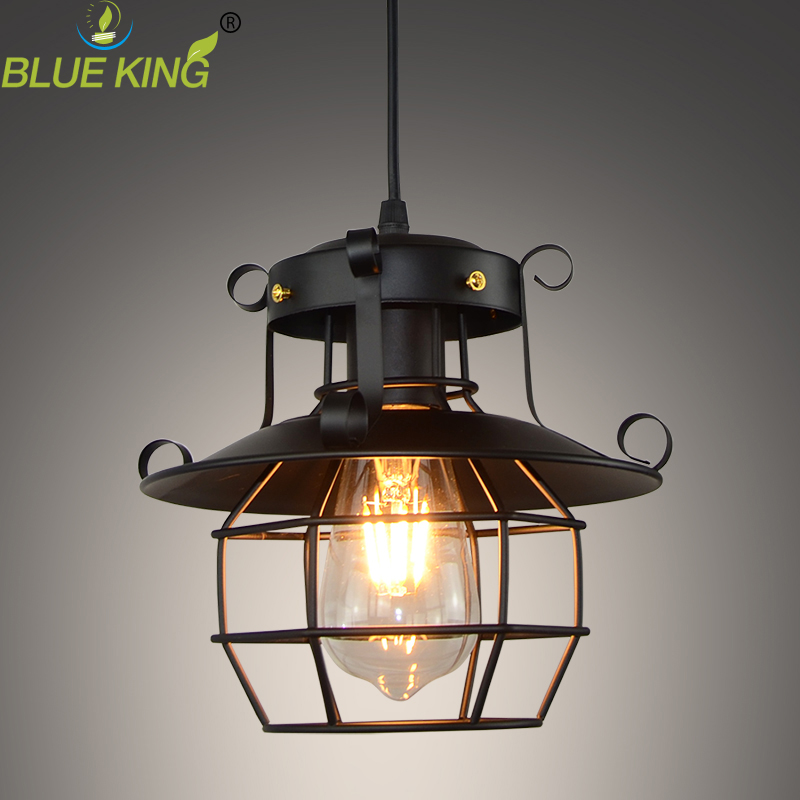 Nordic modern personality vintage loft RH Balcony Wrought Iron Pendant Lights lamp for Living Kitchen Dining Room free shipping american loft vintage lamps personality balcony wrought iron pendant lights vintage edison pendant lamps