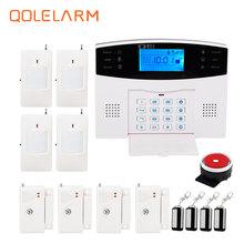 Russian/Spanish voice immediate Intercom SIM GSM Wi-fi Alarm System APP management Good Dwelling Burglar Safety Alarm System Package