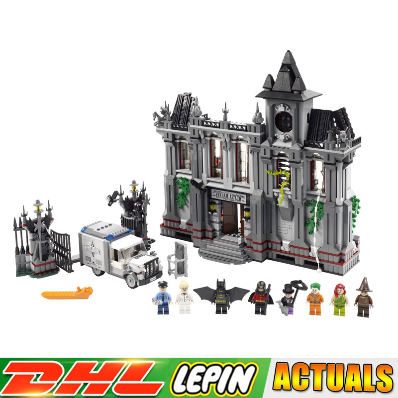 Lepin 07044 Hero Series Batman Arkham Asylum Breakout Model Building Kits Blocks Brick Toys Compatible legoings 10937 new 1628pcs lepin 07055 genuine series batman movie arkham asylum building blocks bricks toys with 70912 puzzele gift for kids