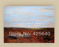 Brown And Blue Acrylic Paint Home Decdsoration Oil Painting On Canvas Hight Quality Hand Painted Wall