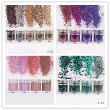 110ml Colorful Shiny Glitter Nail Powder Sheets Tips Nail Art Decoration DIY Beauty Manicure Tools 29 Colors Available