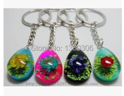 Amber flowers crafts delicate keys to seize random delivery Key chain 1 PCS Halloween gifts