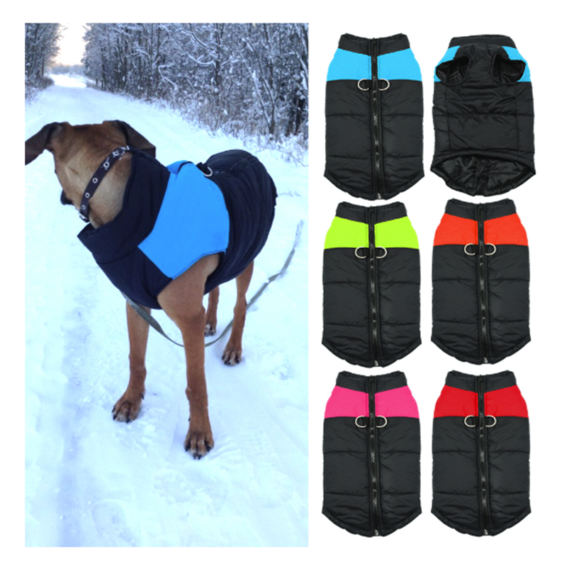 Puppy Vest Jacket Clothing Waterproof Pet Dog Warm Winter Dog Clothing Small Medium Big Dog 5 Color S-4XL