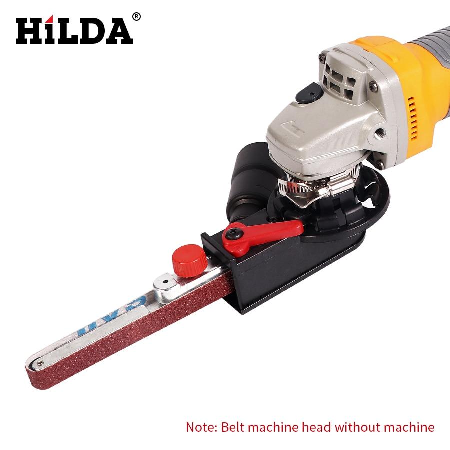 HILDA Sander Machine Sanding Belt Adapter Head Convert M10 With Sanding Belts For Electric Angle Grinder Mayitr Woodworking