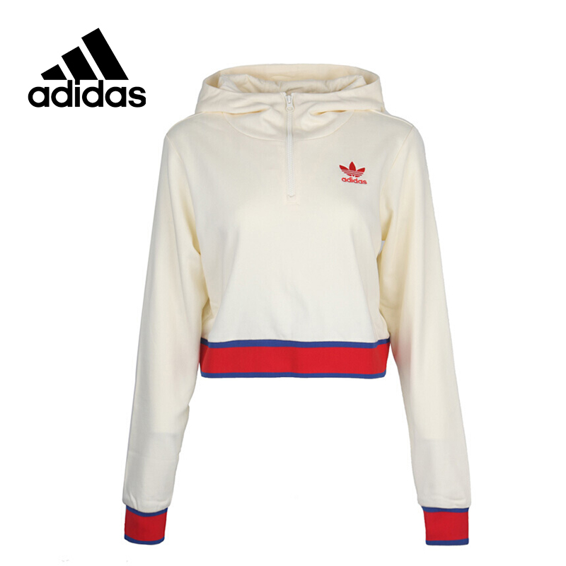 Original New Arrival Official Adidas Originals Women's Breathable Pullover Hooded Leisure Sportswear Good Quality CV9437 original new arrival official adidas women s jacket breathable stand collar leisure sportswear