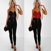 Black/Red Sheer Floral Lace Bodysuit