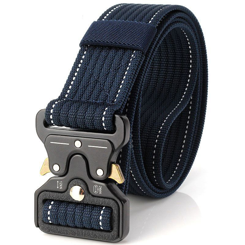 New Cobra Buckle Tactical   Belt   3.5cm High Quality Nylon 120cm Casual Canvas   Belt   For Men And Women Military Training   Belt   B3E2