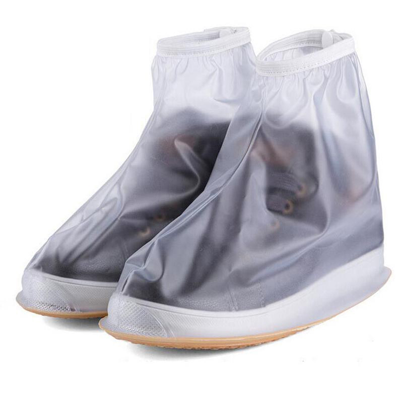 Men & Women Reusable Rain Shoes Covers All Seasons Waterproof Slip-resistant Zipper Rain Boot Overshoes Unisex Shoes Accessories