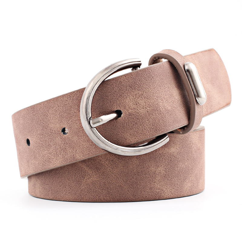 OLOME Vintage 3cm Wide Leather Belt Women Black White Red Silver Buckle Waist Belts Jeans Female 2019 Waistband