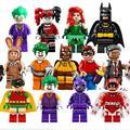 13pcs lot Lepin Batman movie Action figures Set Joker Harley Quinn Robin Building Block Toy Cat man woman Robin Poison Ivy