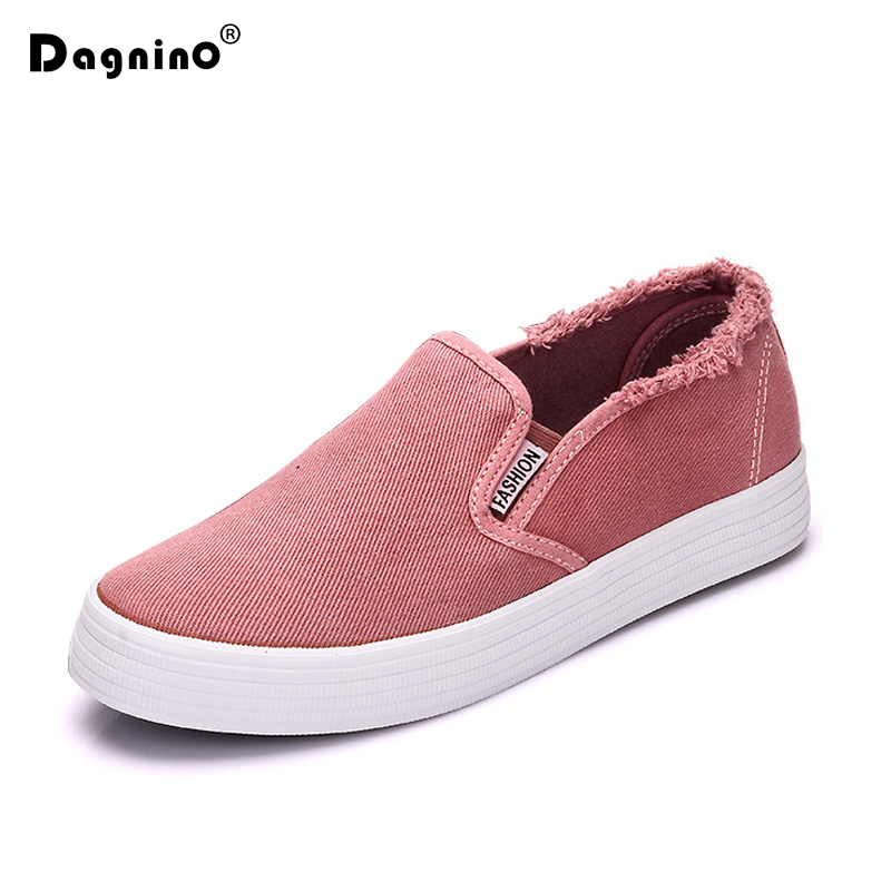 DAGNINO Women Casual Shoes Canvas Shoes Female Slip-on Platform Thick Heel Breatheable Black White Red Green Woman Cloth Shoes e toy word canvas shoes women han edition 2017 spring cowboy increased thick soles casual shoes female side zip jeans blue 35 40
