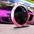 Tampa da roda de direcção de látex cor tom de reboque auto tampa da roda de direcção do carro universal tamanho M 38 cm para as mulheres e meninas