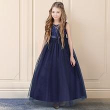 חיל הים כחול petites filles גלימות נסיכת תחרה פרח ילדה שמלות טול בנות Peagant שמלות ראשית הקודש שמלות