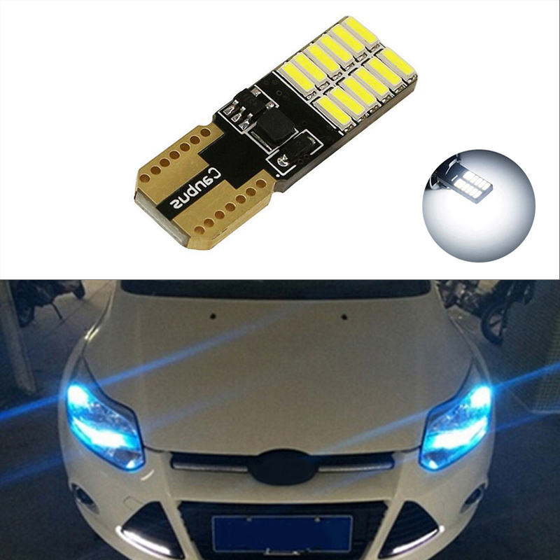>1x Canbus Car LED T10 W5W 24LED Parking Light For Ford Focus 2 1 Fiesta Mondeo 4 3 Transit Fusion Kuga <font><b>Ranger</b></font> <font><b>Mustang</b></font> <font><b>KA</b></font> S-max