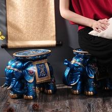 Синий Серии Творческий Элегантный Ручная Роспись Слон Скамейке Слон Стул Украшения Лучший Рождественский Подарок
