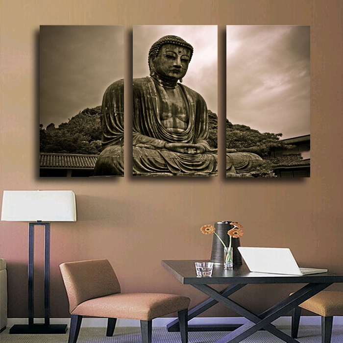 3 Panels Buddha Hd Canvas Print Painting Artwork Modern Home Wall Decor Painting Canvas Art Hd