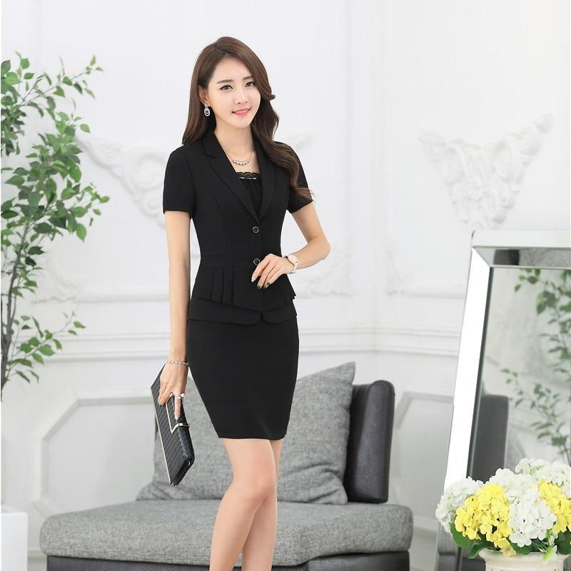 Buy New 2017 Summer Fashion Black Blazer Women Jackets Short Sleeve Fashion