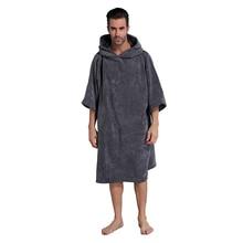 Супер впитывающий Пеленальный банный халат, пончо полотенце с капюшоном, один размер подходит всем