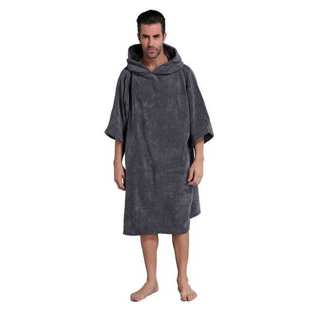 Super Absorb Changing Bath Robe, Surf Poncho Towel with Hood, One Size Fit All