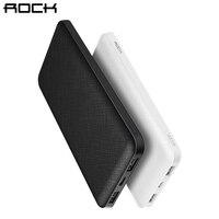 ROCK Slim 10000 MAh Power Bank Portable Ultra Thin Polymer Powerbank Battery Power Bank 10000mah With