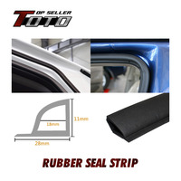 400cm 157 EPDM Rubber Weather Strip Strip Car Door Edge Protective Trim Heat Proof Air Seal flexible dustproof #62
