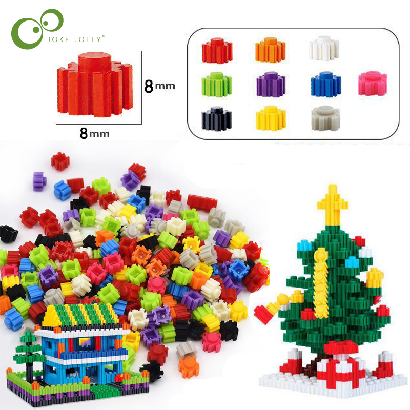 US $1 95 22% OFF|2018 New Arrival Mix Colors Blocks Micro Diamond Building  Bricks DIY 8*8mm Small Building Blocks Toys For Kids GYH-in Blocks from