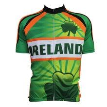 cycling jerseys New Mens Cycling Jersey Comfortable Bike/Bicycle shirt IRELAND Alien SportsWear Green cycling clothing Size2XS-5
