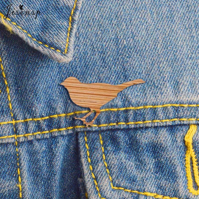 Jisensp Buatan Tangan Lucu Burung Pin Bros Kreatif Perhiasan Hewan Enamel Pin Jaket Denim Gesper Kemeja Lencana Hadiah untuk Anak-anak