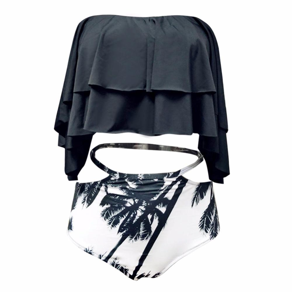 b2c23c8cb03f1 Hot Swimwear Women Plus Size Bikini Set 2018 High Waist Swimsuit Retro Swim  Suits Maillot De