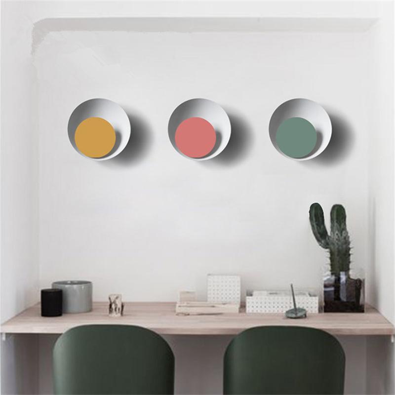 Nordic Colorful Wall Lamp Bedroom Bedside Lighting Balcony Aisle Corridor Wall Sconce Indoor Decor Plafonnier Circle