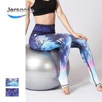 Mulheres Yoga Pants Cônicos Impressão Estrelado Jersqons Esporte Leggings Cintura Alta Calças De Compressão para Ginásio Roupas Sexy Correndo Apertado