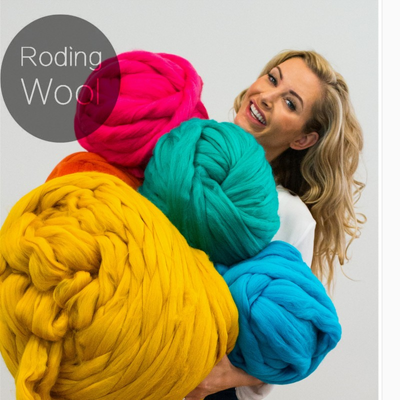 500g 6cmThick Roding Wool Gaint DIY chunky Giant Knitting Soft blanket Yarn Merino Wool Yarn knitting wool extreme merino wool одеяло gg merino wool grass всесезонное 150х200 см
