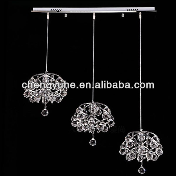 MAMEI Free Shipping G4 LED White Bulbs Crystal Restaurant Pendant Lamp 3 Lights Kitchen Island Fixtures  mamei free shipping 3 lights crystal led pendant light fixtures for dinner room kitchen island led included