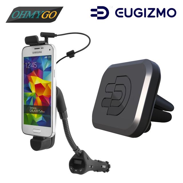 Transmisor FM para coche Soporte Del Sostenedor Del Teléfono con Cargador + Cargador de Coche USB Magnética Vent Horquilla del Montaje para Samsung Lenovo LG etc. Smartphones