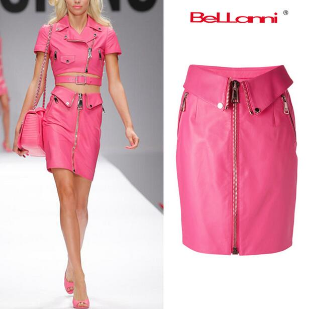 Popular Pink Leather Skirts-Buy Cheap Pink Leather Skirts lots ...