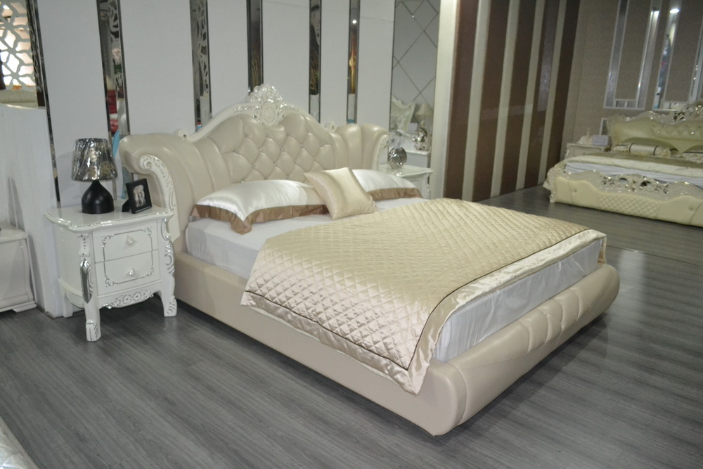 Cabecero cama 2016 genuine leather special offer promotion for King size divan bed no mattress