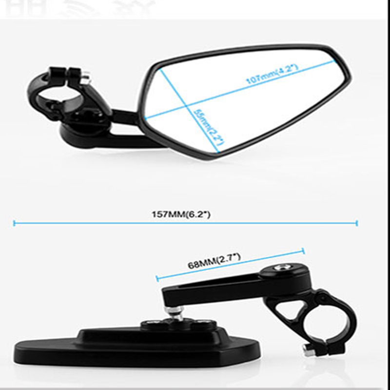 22mm Motorcycle Rearview Mirror Rear View Side Mirrors CNC for Honda GROM MSX125 CB50 Motorcycle Mirrors