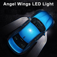 2Pcs 12V Angel Wings Car Welcome Light Shadow Projector LED Door Warning Lamp for Audi BMW Toyota Honda