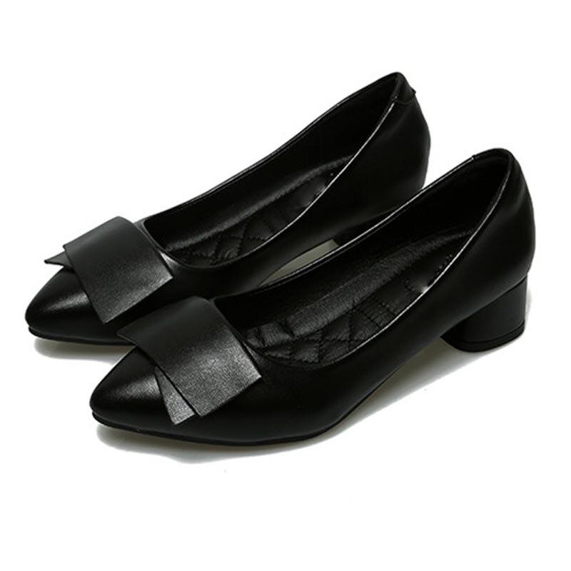 Chaud en cuir véritable talons hauts femmes pompes bout pointu travail pompes Stiletto femme chaussures de mariage chaussures bureau carrière élégantes pompes