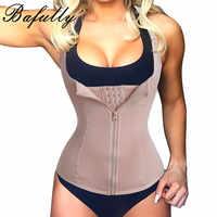 Bodysuit de Bafully para mujer, adelgazante, cremallera, cintura, entrenador, Cinta Modeladora, moldeador de cuerpo, faja de vientre, tanque, corsé correctivo, camisetas