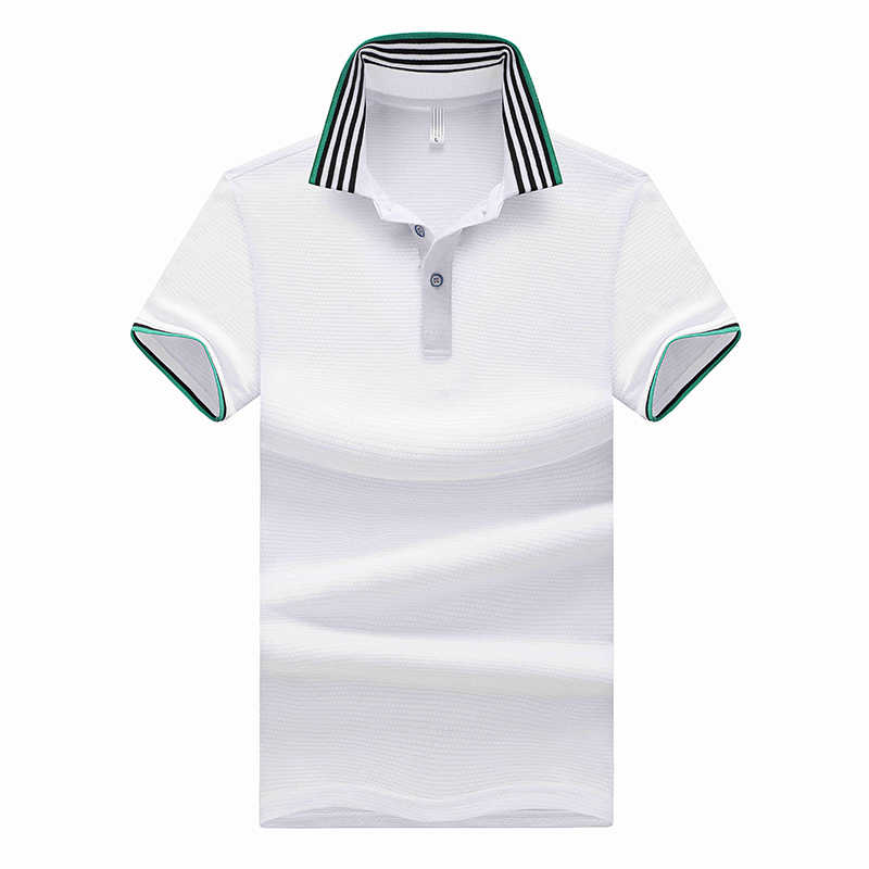 Dropshipping 4 Colors Polyester Polo Shirt Men Short Sleeve Polos Para Hombre Solid Casual Poloshirts Mens