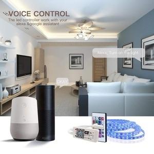 Image 2 - 1M 2M 3M 5M 10M 15M Draadloze Telefoon Controle Wifi Led Strip Werkt Met amazon Alexa Google Home Iffft Smd 5050 12V Rgb Tape Lint